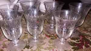 Copas de cristal para licor