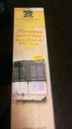 Persiana Americana PVC 25 mm 60 x 90