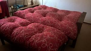 Vendo futón 2 cuerpos, 3 posiciones