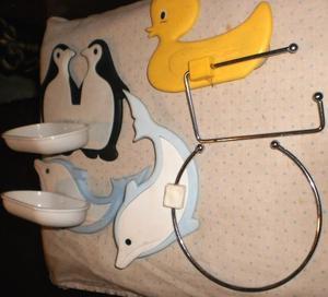 1 accesorio baÑo infantil-delfin-patito-pinguino