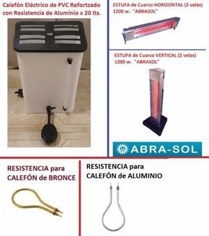 ESTUFA ELECTRICA DE CUARZO CALEFON ELECTRICO PVC CON DUCHA