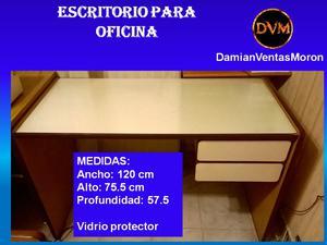 Escritorio para oficina (usado) 120 x 75,5 x 57,5