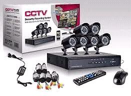 Kit cámaras de seguridad x4 dvr cables mouse control remoto