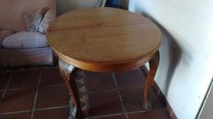 Mesa de comedor Chippendale y 6 sillas