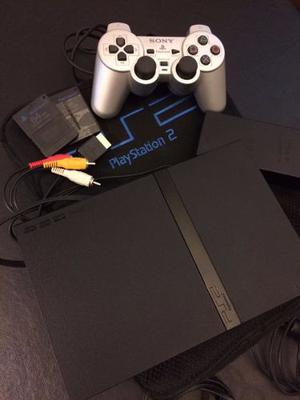 Playstation 2 Slim Chipeada + Joystick + Memory Card 64 Mb