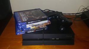 Ps4 de 500 gb 1 joystick y 14 juegos garantia