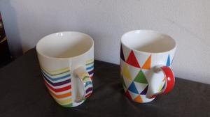 Tazas Desayuno De Cerámica Decoradas Colores Y Formas