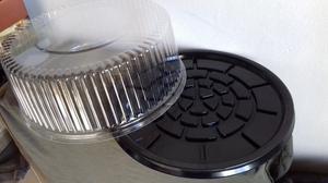 Tortera Descartable (portatortas) Plástico Transparente