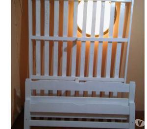 Vendo Cama 2 Pl En La Plata Usada Pintada Acrílico Blanco
