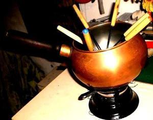 antigua olla fondeau completa-pinches calentador