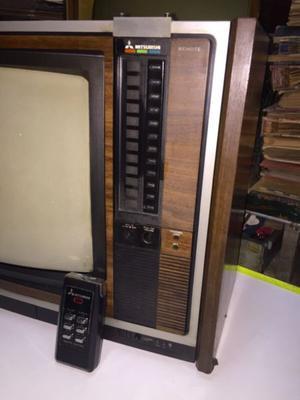 televisor mitsubishi de 20 pulgadas color, con control