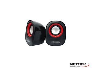 PARLANTES USB 2.0 ROJO/VERDE/VIOLETA NM- - NETMAK