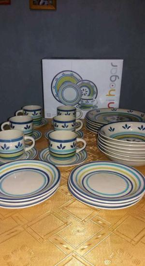 Vajilla de cerámica para para 6 personas