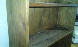 Biblioteca de pino pintada wengue 5 estantes