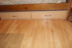 Cajonera movil 2 cajones con ruedas tapizada posot class - Cajones bajo cama ...