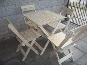 Fabrica De Mesas Y Sillas Plegables Mauri Tipo Bar Oferta!!!