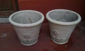 Macetas de cemento 2 unidades