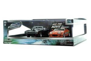 Rápido Y Furioso Toyota Supra Dodge Charger Escala 1:43