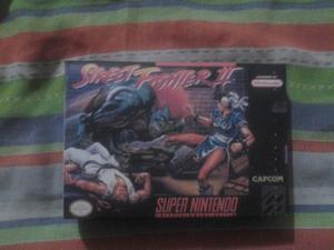 caja street fighter 2 para super nintendo coleccionistas