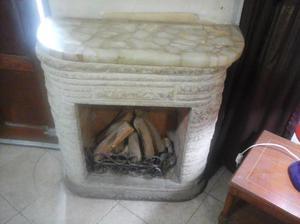 hogar de leños a gas
