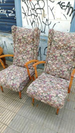 Antiguos sillones escandinavos tapizados posot class - Sillones antiguos tapizados ...