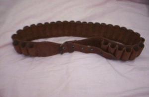 Cinturon porta cartuchos de caza de cuero