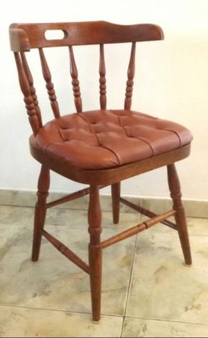 Juego 4 sillas sillón windsor boston madera roble macizo