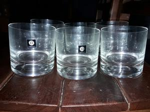 Juego vasos de whisky de cristal