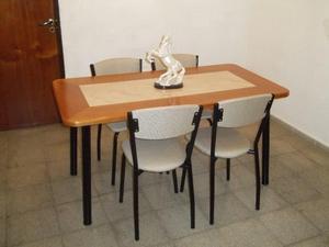 !! Mesa y 4 sillas !! Flete sin cargo !!