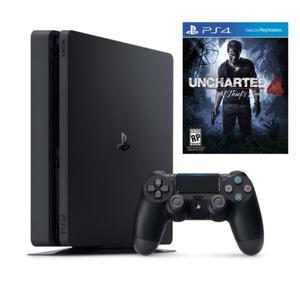 PS4 Playstation 4 Slim con Uncharted 4 Fisico y Sellado