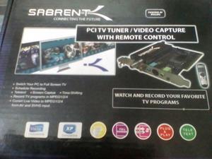Sintonizadora de TV PCI / Capturadora de vídeo con control