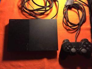 Sony Playstation 2 Chipiada Con 1 Joystick Y 2 Juegos