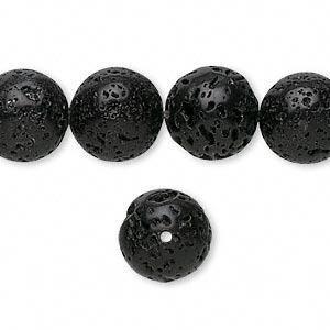 Tira De Bolitas De Piedra Volcanica 8mm