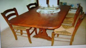 Vendo mesa con 4 sillas de algarrobo líquido $