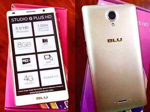 blu studio G plus, 4G, vidrio templado y funda de regaló.