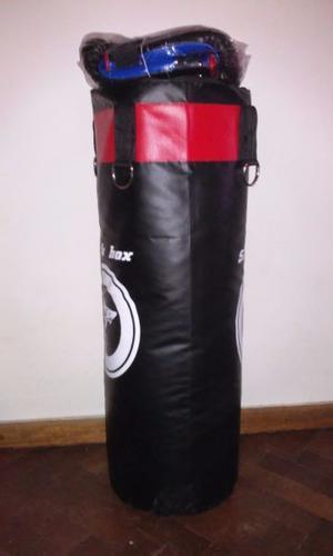 bolsa de boxeo y guantines nuevos!!