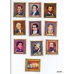 figuritas 10 antiguas 5.5x6,5 cm c/u se vende el lote
