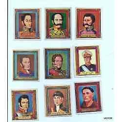 figuritas 9 antiguas 5.5x6,5 cm c/u se vende el lote