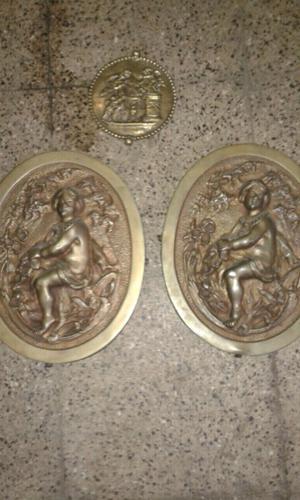 Adornos de cama de bronce antiguos