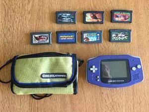 Gameboy Advance Con 7 Juegos Y Funda