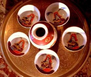 Juego de porcelana para sake Jarra y 5 vasos
