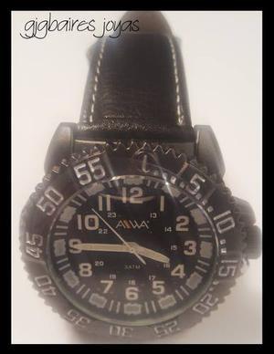 Relojes Aiwa De Hombre Malla De Cuero F2