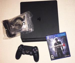 Sony Playstation 4 Nueva, Slim, 500 gb con uncharted 4 y