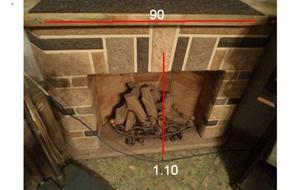 hogar esquinero con leños a gas - desarmado