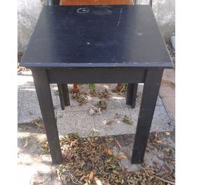 mesas 0.80x0.80 y sillas madera!!!