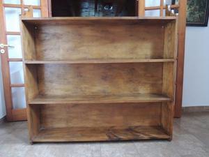Biblioteca de pino macizo
