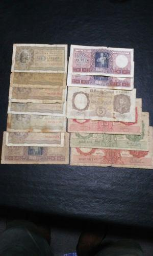 Billetes De Argentina Moneda Nacional Circulados