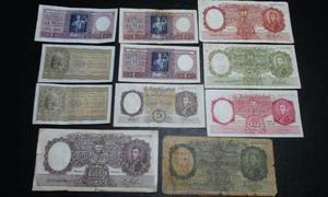 Billetes De Argentina Moneda Nacional Lote