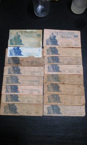 Billetes De Argentina Serie Progreso Circulados