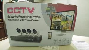 Cámaras de seguridad kit x4 con cables DVR nuevas en caja